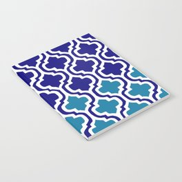 Moroccan Blue tile pattern1 Notebook
