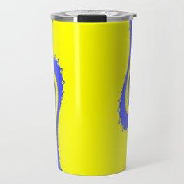 Blue and Yellow Swirls Travel Mug