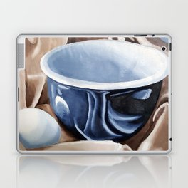 Oil paint on paper painting still life of and egg and a bowl Laptop & iPad Skin