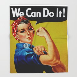 We Can Do It - WWII Poster Throw Blanket