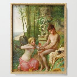 Jean-Francois Millet - Spring, Daphnis And Chloe - Digital Remastered Edition Serving Tray