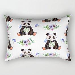 Garden Panda Rectangular Pillow