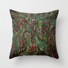 Kashmir on Wood 05 Throw Pillow
