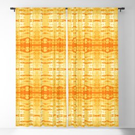Satin Shibori Yellow Blackout Curtain
