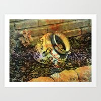cracked Art Prints featuring Cracked by BeachStudio