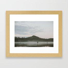 Dusk in Tofino Framed Art Print