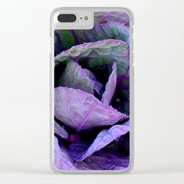 Purple Frost Clear iPhone Case