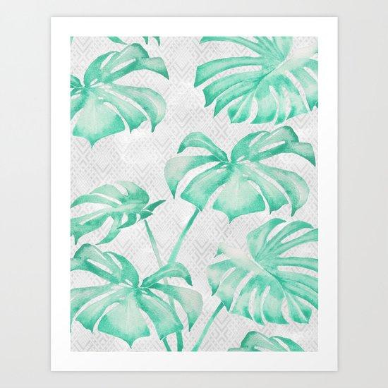 city leaf Art Print