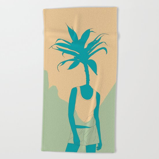 Woman Nature 3 Beach Towel