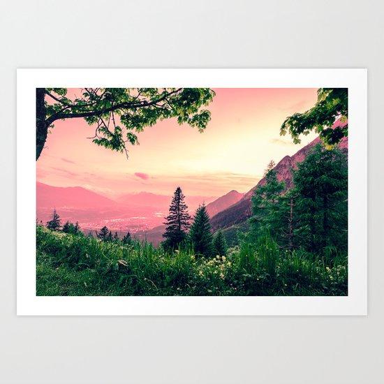 Alpine Fairytale Art Print