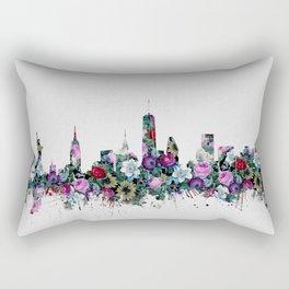 new york skyline floral Rectangular Pillow