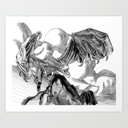 Dragon Roar! Art Print
