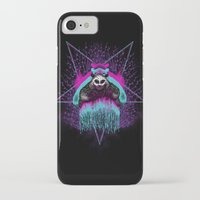 three of the possessed iPhone & iPod Cases featuring Possessed Panda by pigboom el crapo