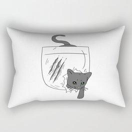 Pocket Cat Rectangular Pillow