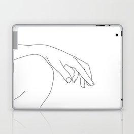 Minimal hand on knee line drawing - Bliss Laptop & iPad Skin