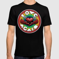 Love Again MEDIUM Mens Fitted Tee Black