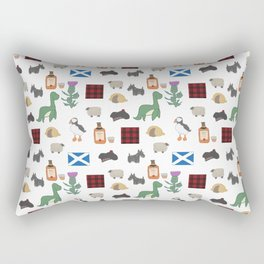 Famous Scottish Icons Pattern Rectangular Pillow