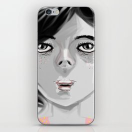 GIRL IN BLACK  iPhone Skin