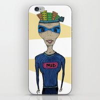 mad iPhone & iPod Skins featuring MAD by BNK Design
