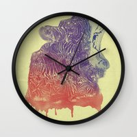 camo Wall Clocks featuring camo  by samalope