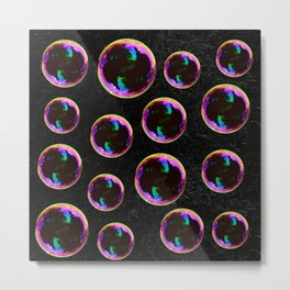 Soap Bubbles Pattern Metal Print