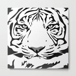 tiger pattern animal flat Metal Print