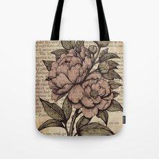 Peonies  - Color Tote Bag