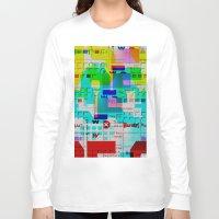glitch Long Sleeve T-shirts featuring Glitch 002 by Karolis Butenas