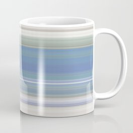 Blue and Neutral Color Stripe Design Coffee Mug