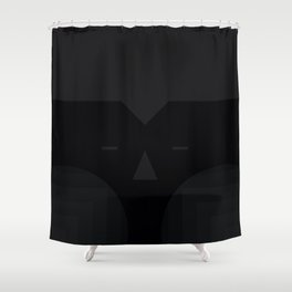 blackie the moon Shower Curtain