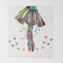 LOVE IS A DANCE Throw Blanket