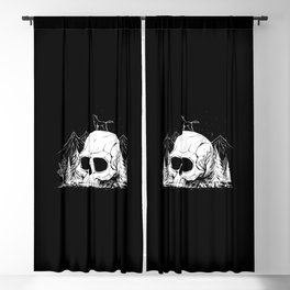 Skull Forest Blackout Curtain
