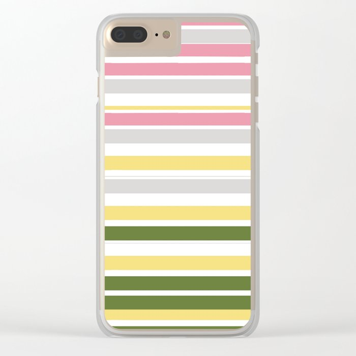 Calm Layers of Pastels Clear iPhone Case