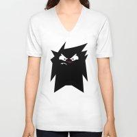 danny ivan V-neck T-shirts featuring Ivan 01 by Liron Peer