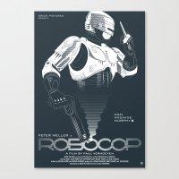 robocop Canvas Prints featuring Robocop by Alain Bossuyt