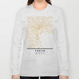 TOKYO JAPAN CITY STREET MAP ART Long Sleeve T-shirt