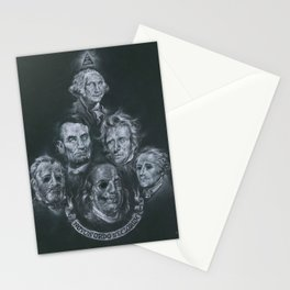 Dead Presidents Stationery Cards