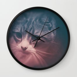 photo cat Stefan #photo #cat Wall Clock