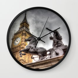 Big Ben and the Boadicea Statue London Wall Clock