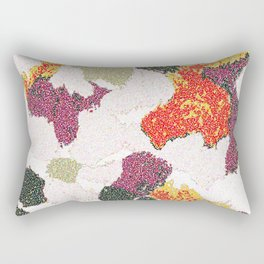 Abstract floral camouflage Rectangular Pillow
