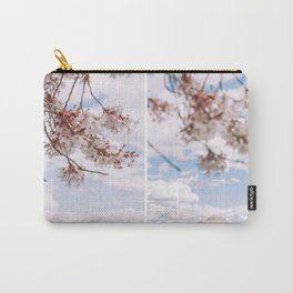 Washington DC Cherry Blossoms - Diptych Carry-All Pouch
