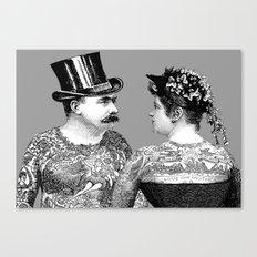 Tattooed Victorian Lovers Canvas Print