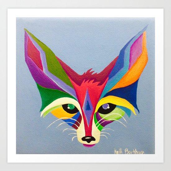 Diamond Fox Art Print