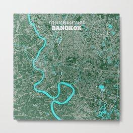 Bangkok, Thailand street map Metal Print