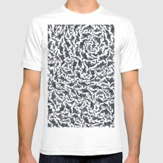 Whale, Orca Mens Fitted Tee MEDIUM White