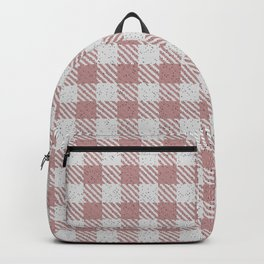 Rosy Brown Buffalo Plaid Backpack