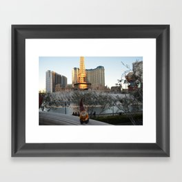 Gnome at the Bellagio Framed Art Print