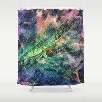 ladybug Shower Curtains featuring ladybug by Julia Kovtunyak