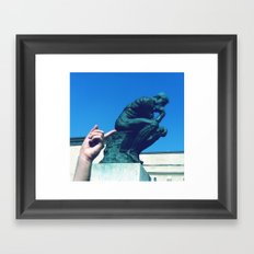 I Stink, Therefore I Am Framed Art Print