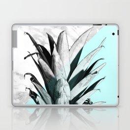 Pineapple Top Marble Pastel Blue Laptop & iPad Skin